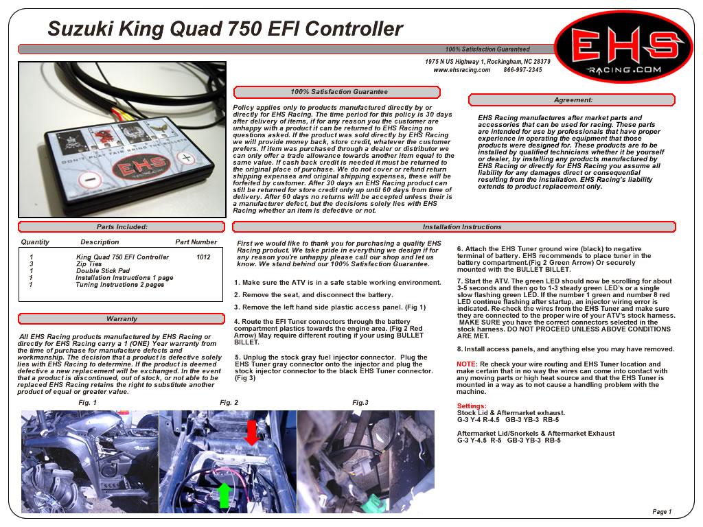 King Quad 750 EFI Controller