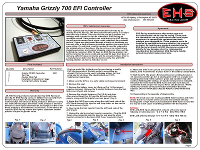 Grizzly 700 2007-2013 EFI Controller